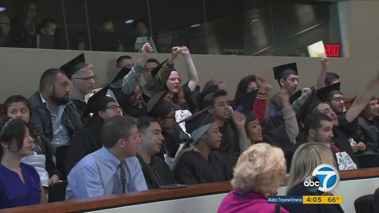 Students protested as the CSU board voted for a 5 percent tuition increase for the 2017-18 school year.