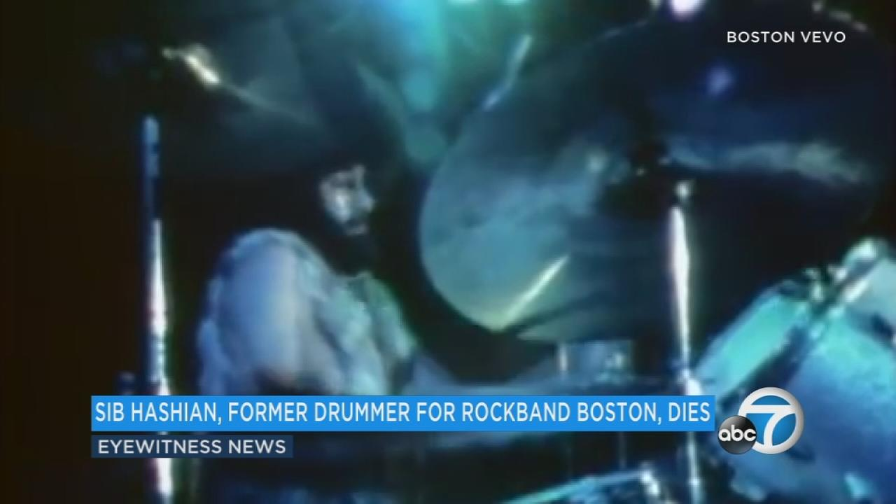 John Sib Hashian, best known as the former drummer for the rock band Boston, is seen in an undated file photo.