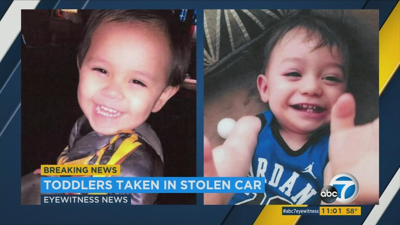 Carlos Cortez, 2 (L), and Jayden Cortez, 1 (R), are shown in undated photos provided by Cathedral City police on Thursday, March 23, 2017.
