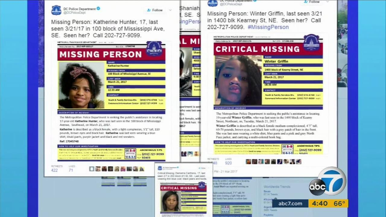 Images show tons of missing minority teenagers in Washington, D.C.