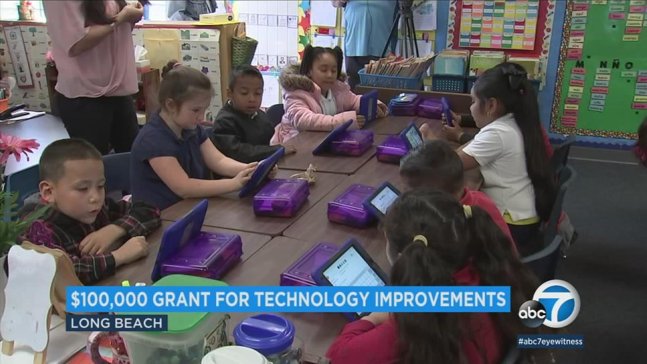Lafayette Elementary in Long Beach puts $100K grant into action with new tech