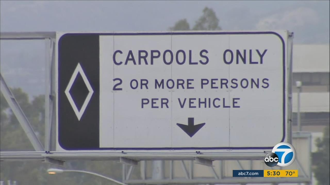 Southern California carpool lanes that now require two occupants could change to three under a proposal being studied now.