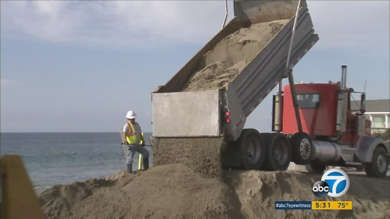 More than half of Southern Californias beaches could completely erode back to coastal infrastructure or sea cliffs by year 2100 as the sea levels rises, according to a study.