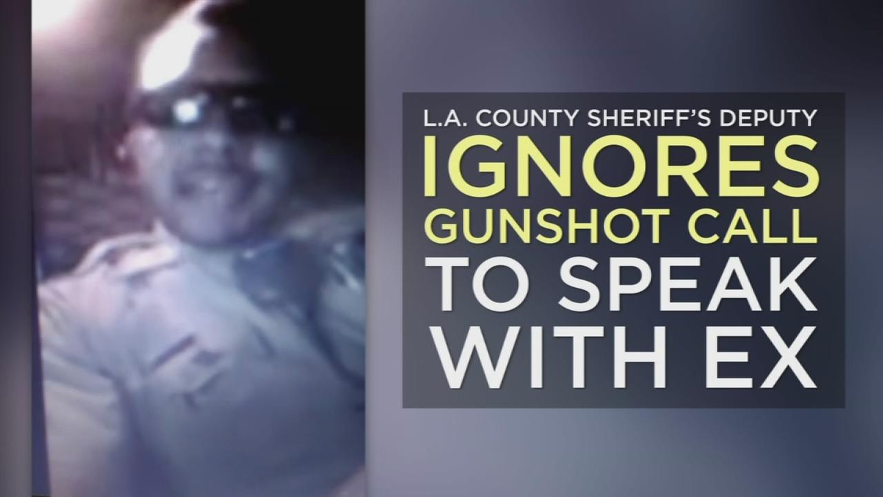 Footage showing Los Angeles County sheriffs deputy Jeremy Fennell appearing to ignore a gunshot call while recording a video for his ex-girlfriend has put the man under two internal investigations.