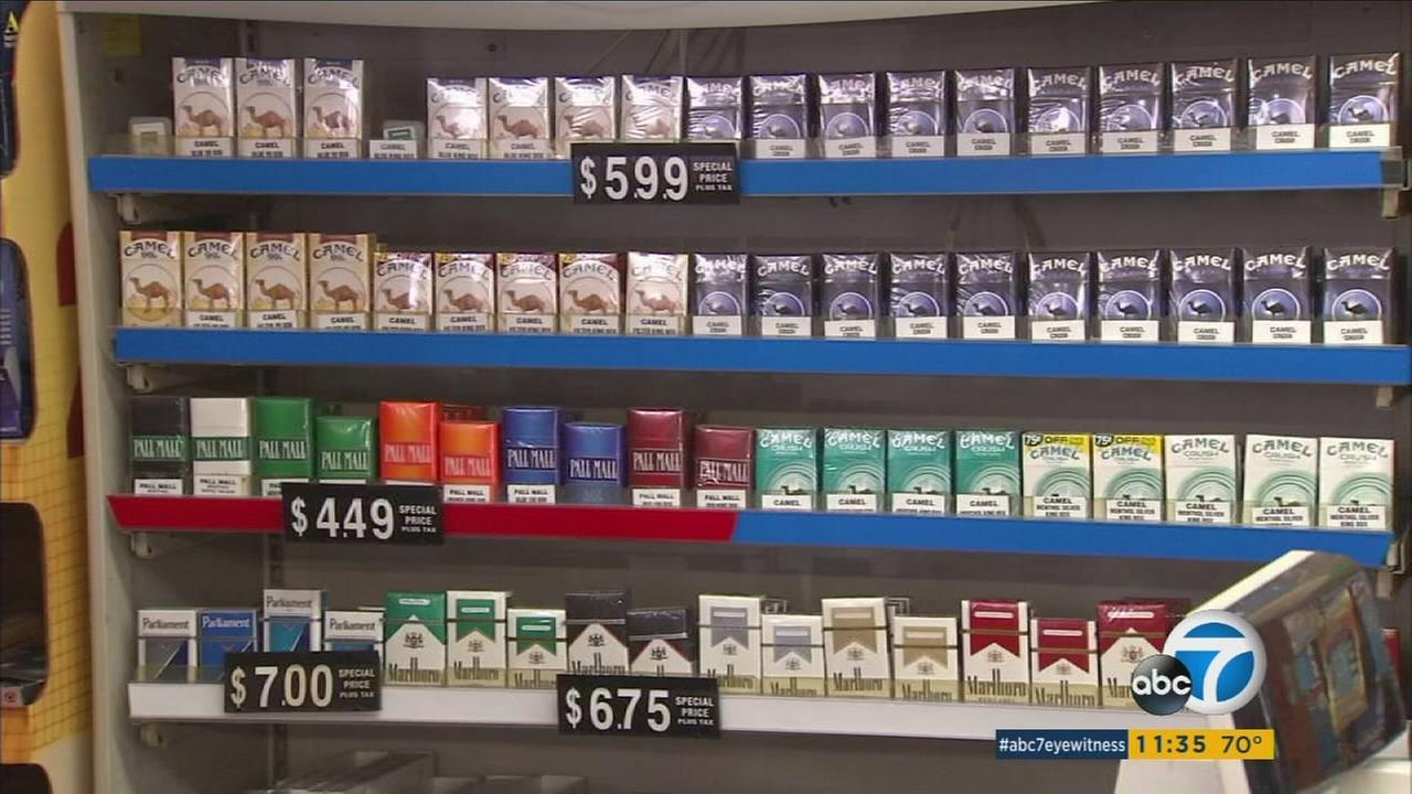 The price of a pack of cigarettes is about to go up in California.