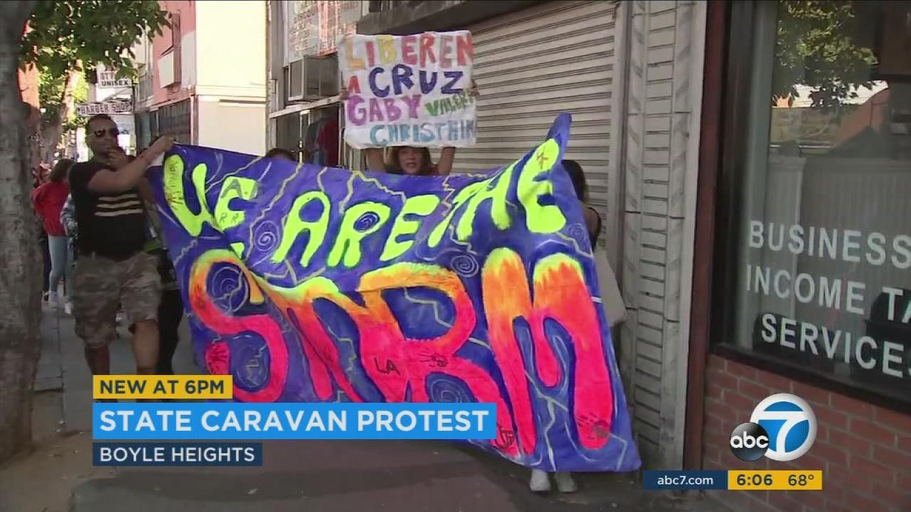 Boyle Heights marked the third stop in a statewide protest held by the Immigrant Youth Coalition.