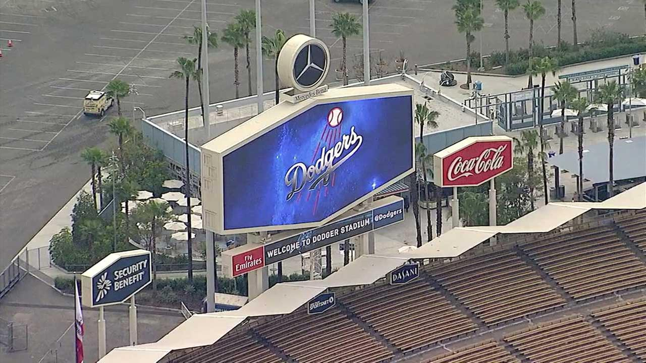 Dodgers Stadium is seen on Opening Day, Monday, April 3, 2017.