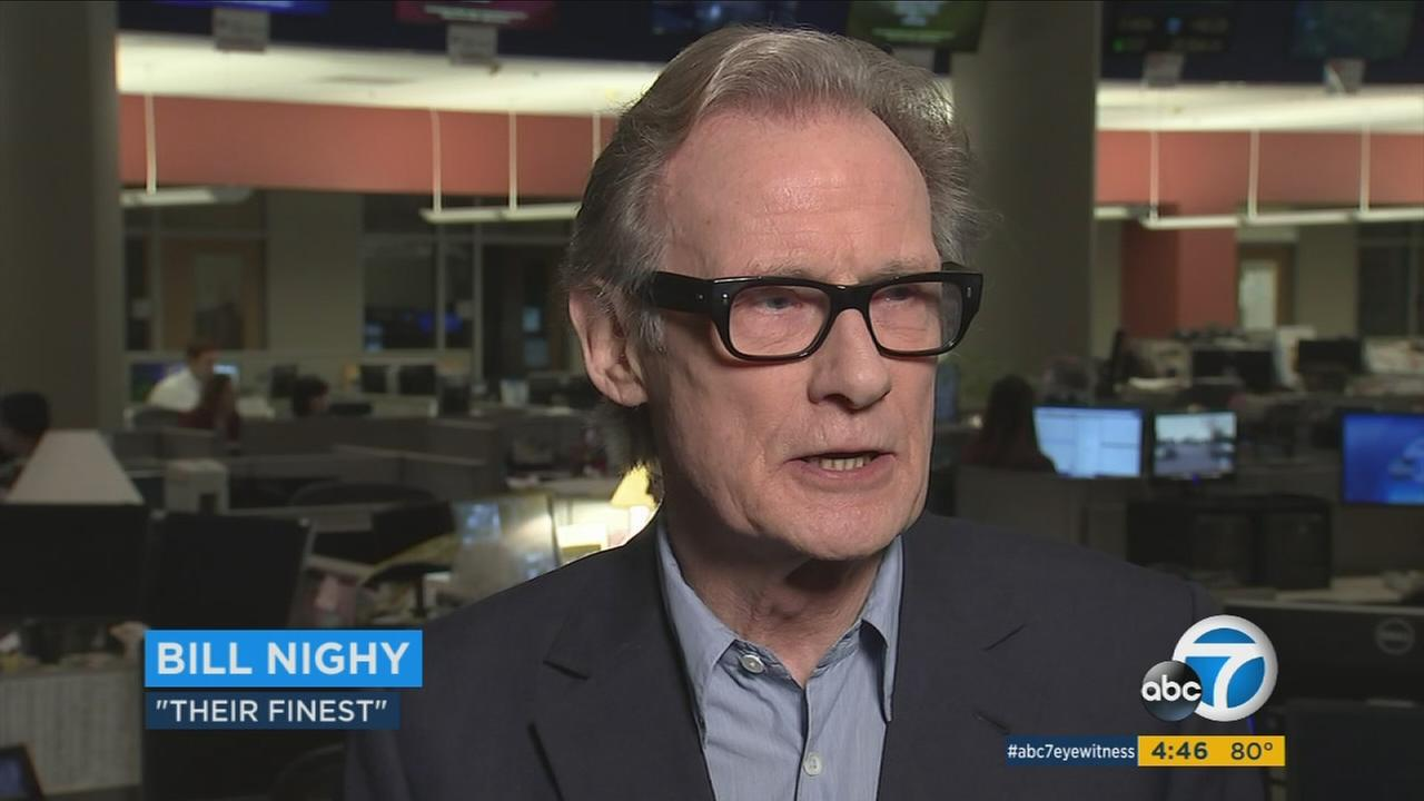 Bill Nighy stars in the WWII-set romantic comedy Their Finest.