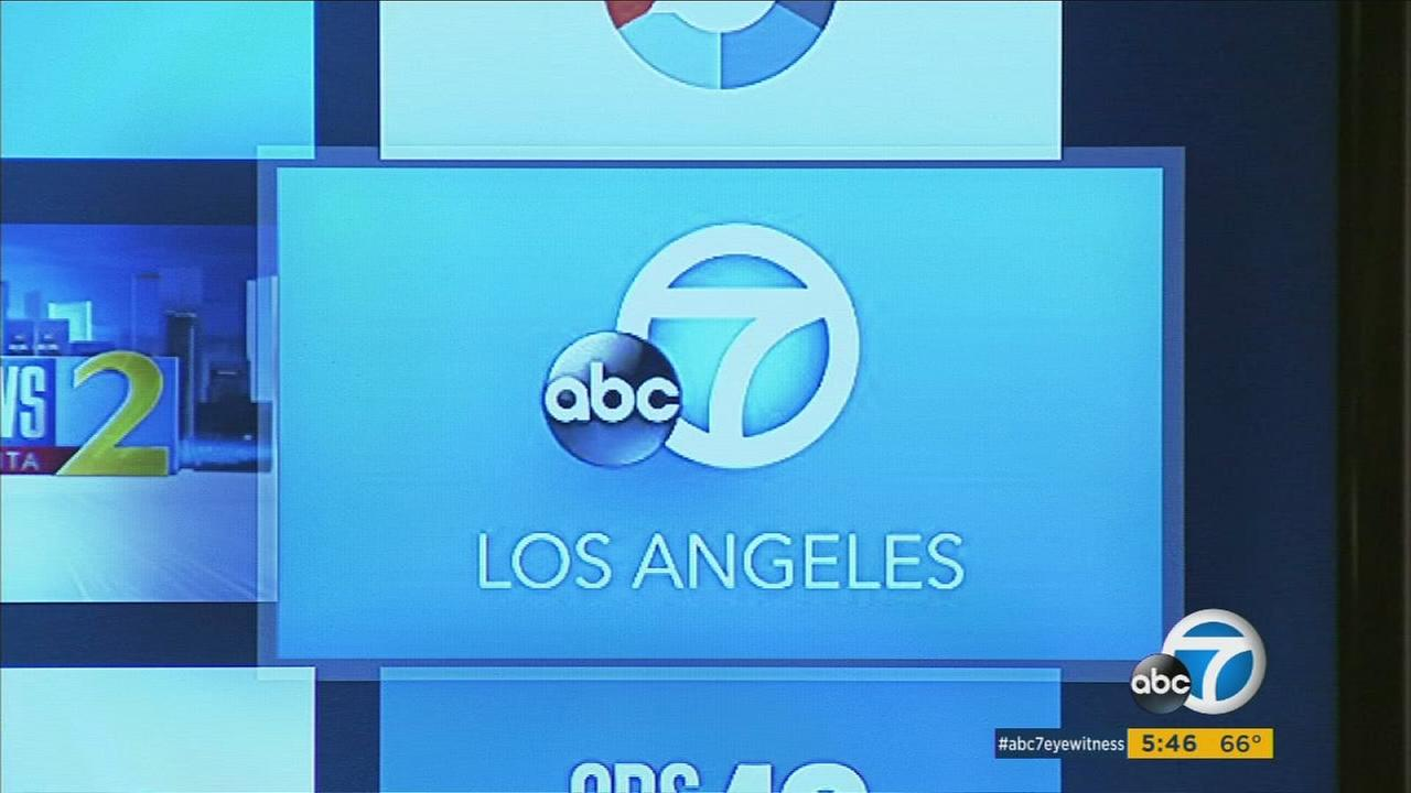 The ABC7 Los Angeles Amazon Fire application is shown on a television screen.