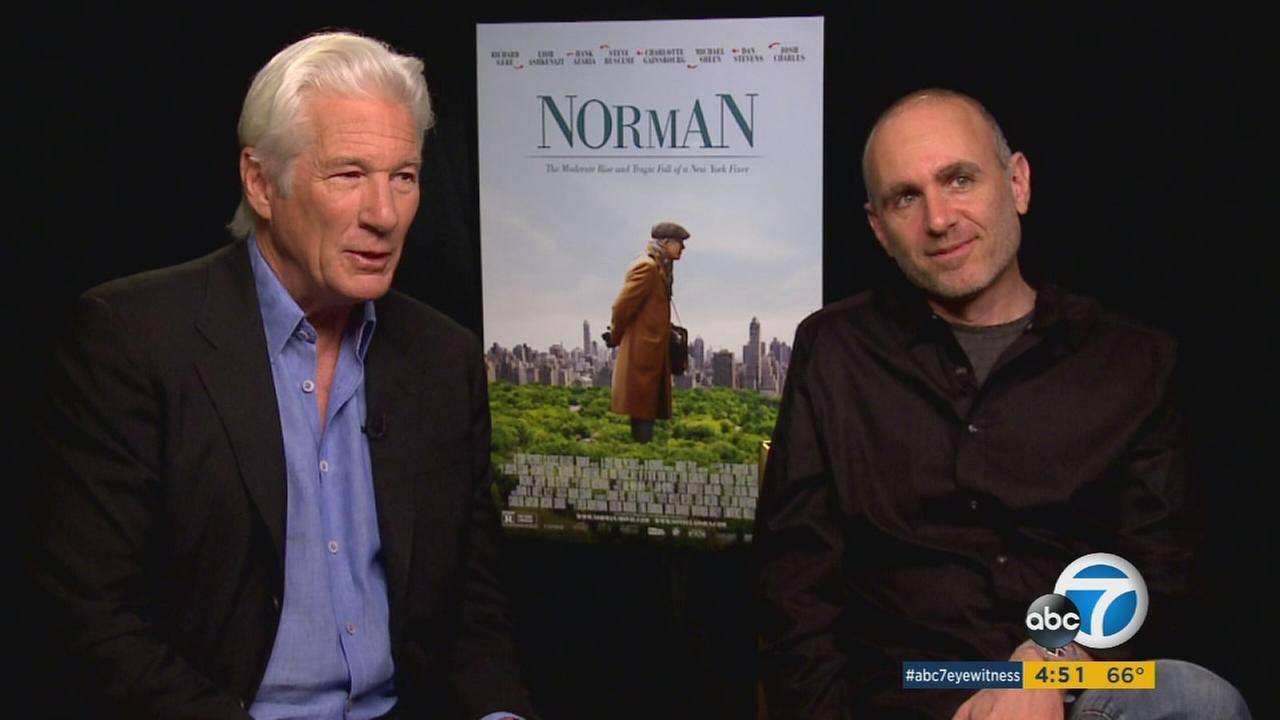 Richard Gere (left) stars in Norman, directed by Joseph Cedar.