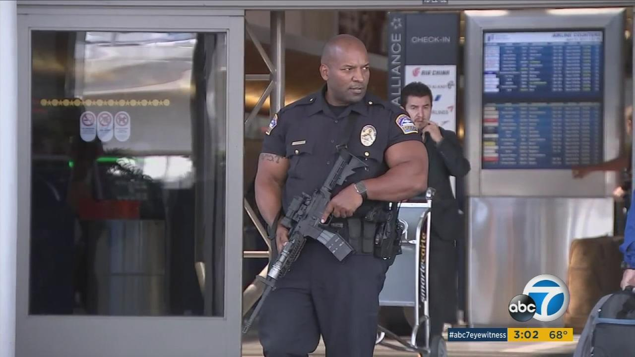 At Los Angeles International Airport there is always intense security, but passengers say theyve noticed traveling Thursday is a bit different.