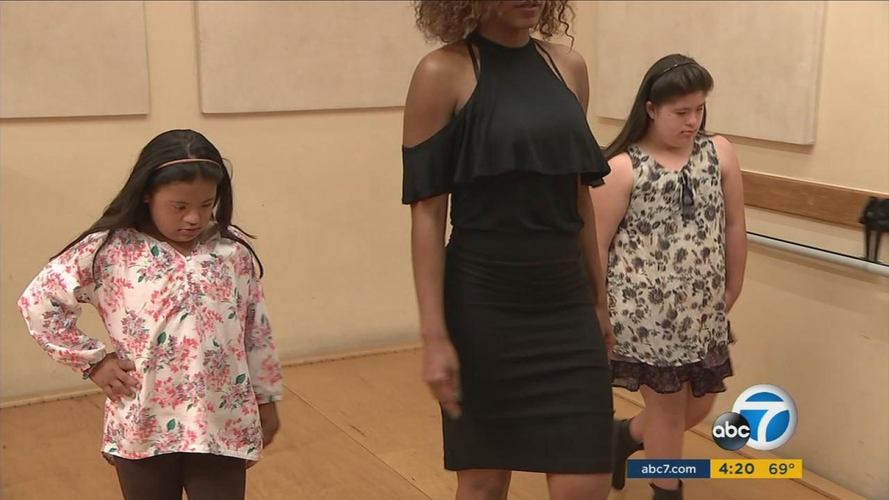 A North Hollywood class is helping girls with Down syndrome learn modeling techniques - and more importantly, self-confidence.