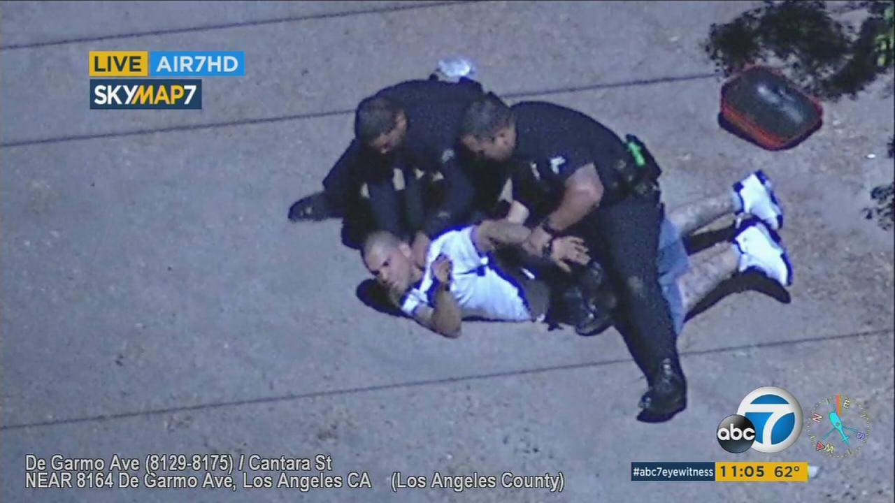 Police arrested a male driver and female passenger after a chase through Burbank.