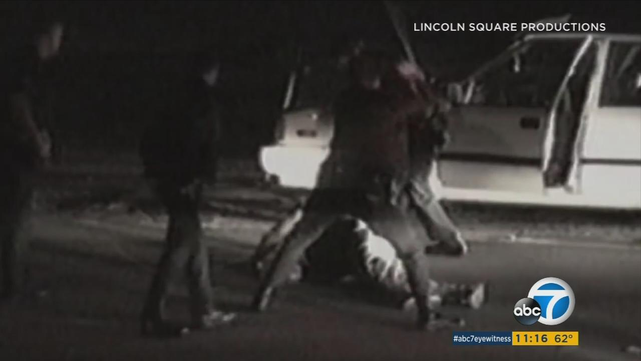 A still image from the documentary Let It Fall shows the police beating of Rodney King. (Photo: Lincoln Square Productions)