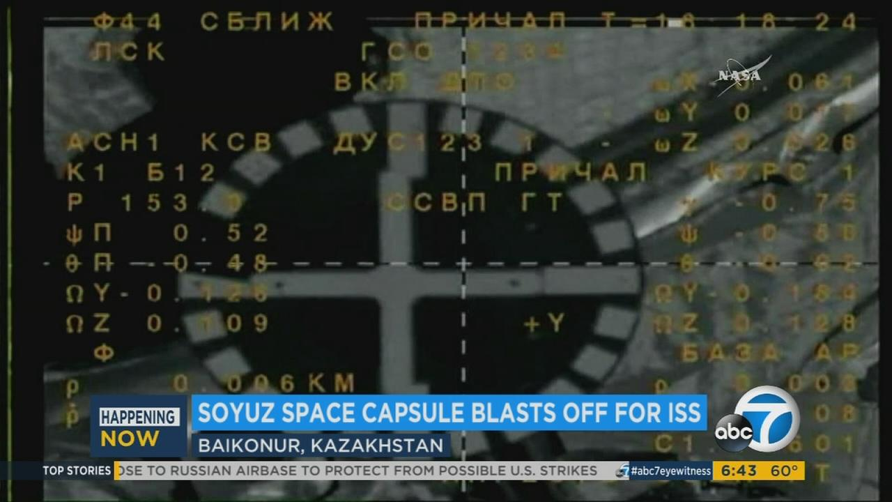 Soyuz capsule successfully delivers astronauts to International Space Station