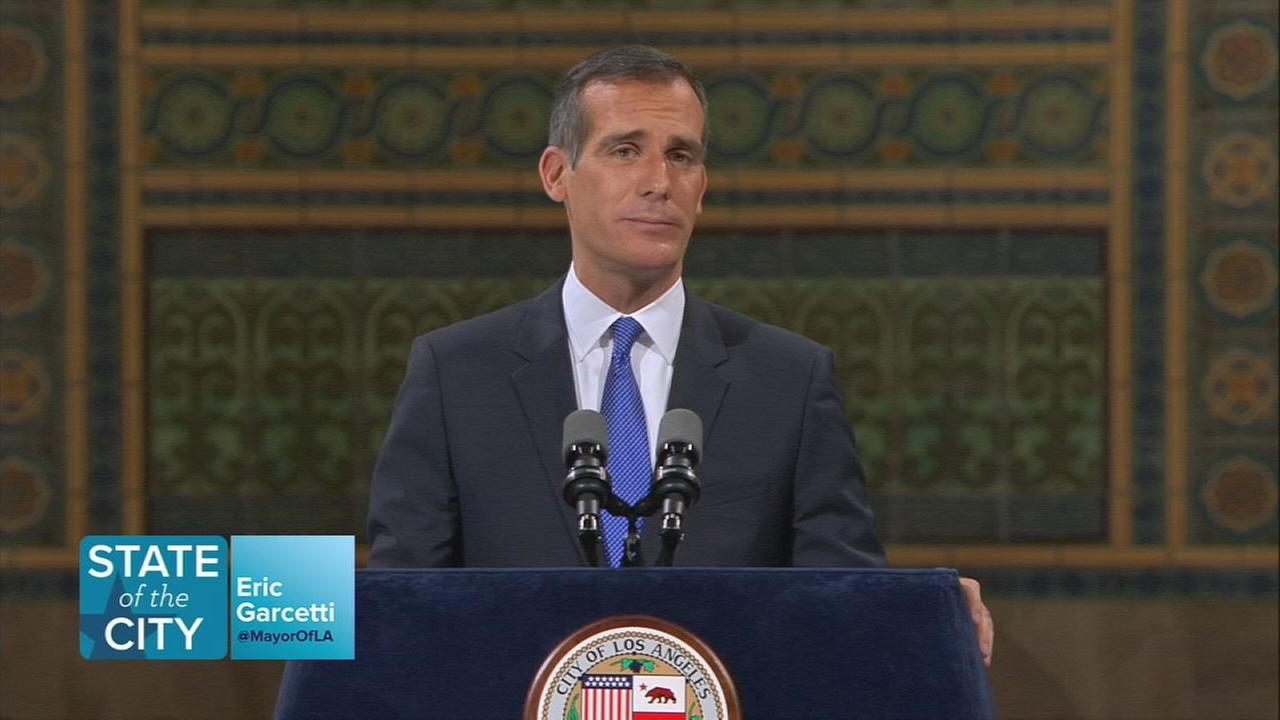 Garcetti directly addressed the citys ongoing relationship with the Trump administration over the contentious issue of illegal immigration.