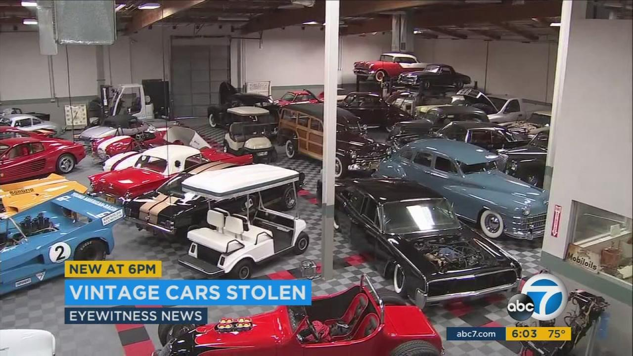 A 1936 DeSoto sedan and an iconic Ford GT were stolen from a warehouse in Canoga Park.