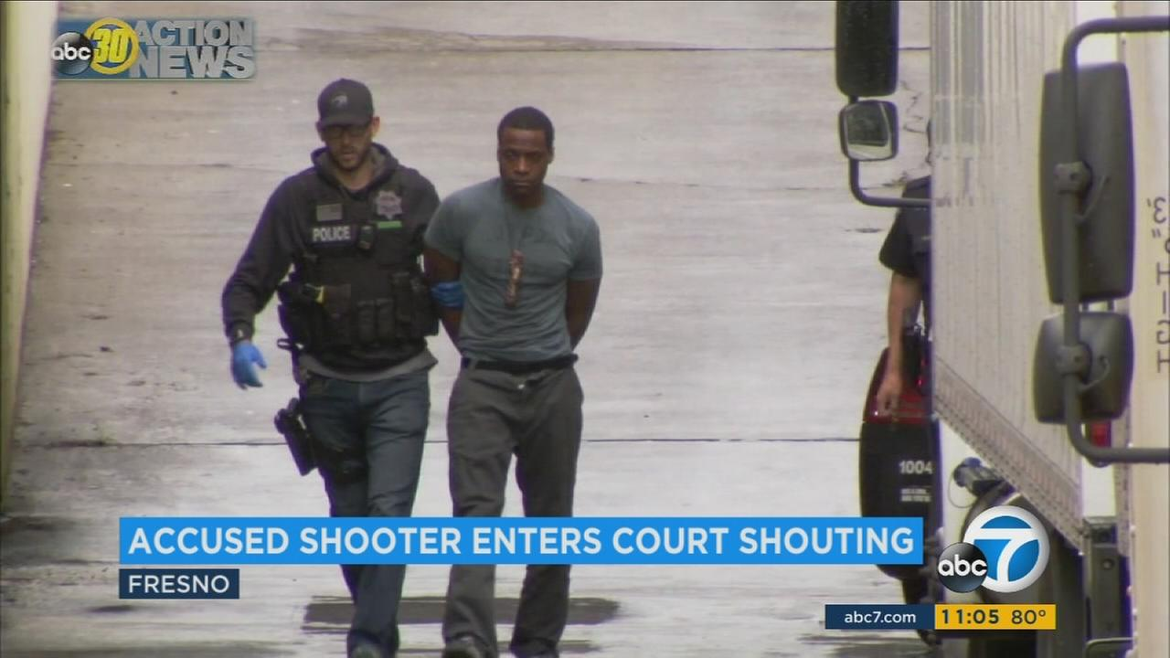 Fresno shooting suspect shouts in courtroom