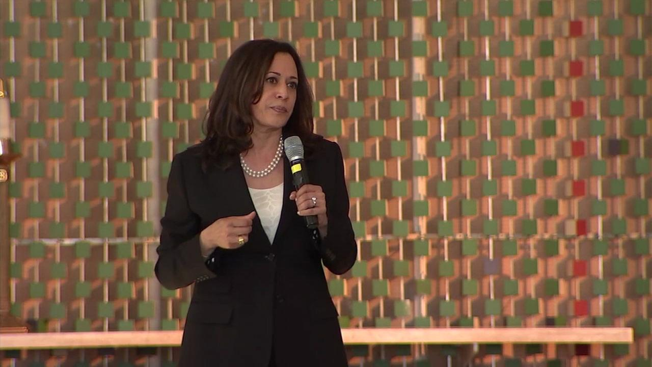 Sen. Kamala Harris holds town hall at South LA church