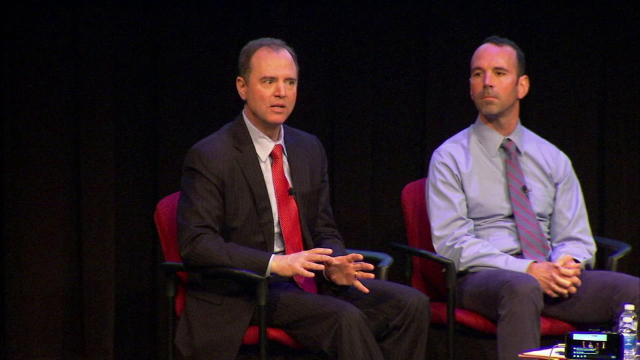 Rep. Adam Schiff held a climate panel at Caltech on the eve of March for Science Friday, April 21, 2017.