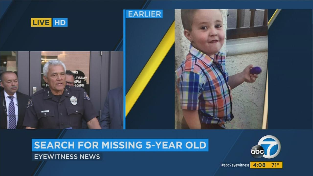 South Pasadena Police Chief Art Miller asked for the publics help finding 5-year-old Aramazd Andressian Jr., who has been missing since at least Saturday.