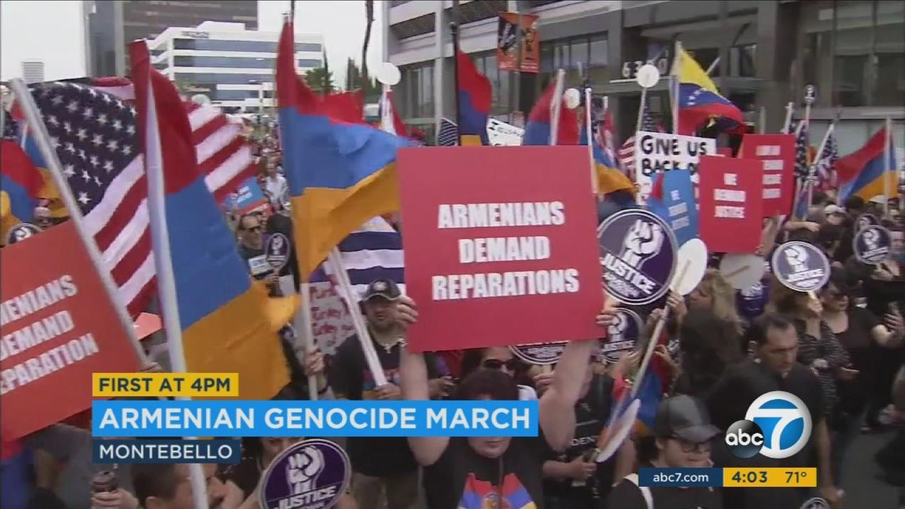 Armenians around the Southland are commemorating the anniversary of the Armenian Genocide, honoring the memories of their ancestors and calling for recognition by the U.S. government.