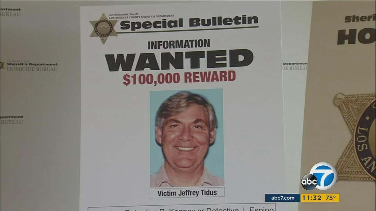 Jeffrey Tidus is seen in a poster from the Los Angeles County Sheriffs Department.