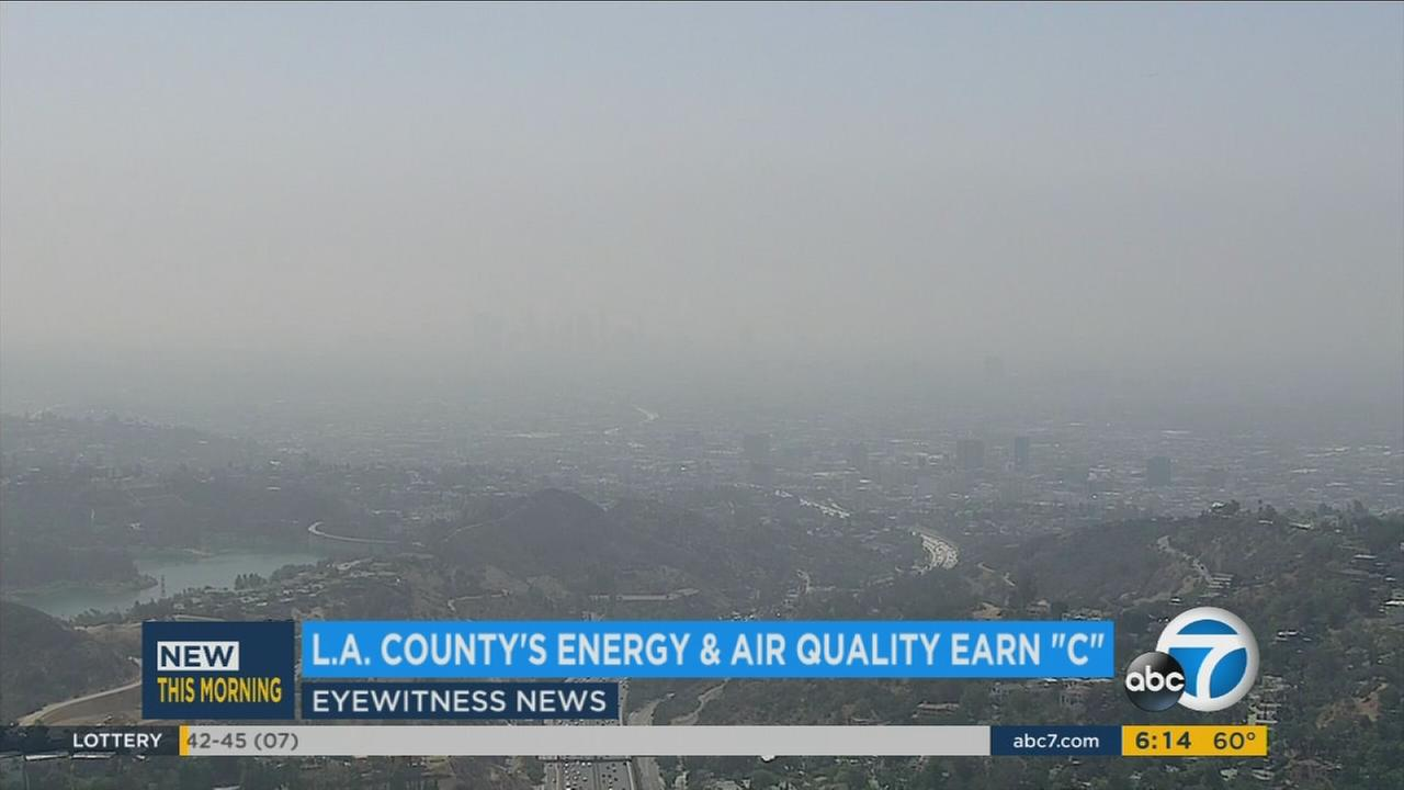 The University of California, Los Angeles has released a new environmental report card that gives a C grade to Los Angeles County when it comes to energy use and air quality.