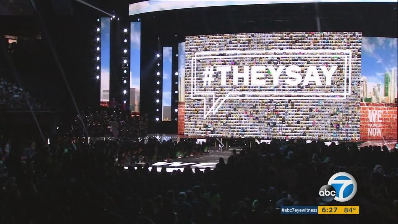 Thousands gather in Los Angeles for WE Day.