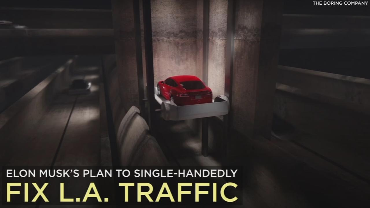 A look into a tunnel system idea created by Elon Musk and meant to ease traffic in Los Angeles.