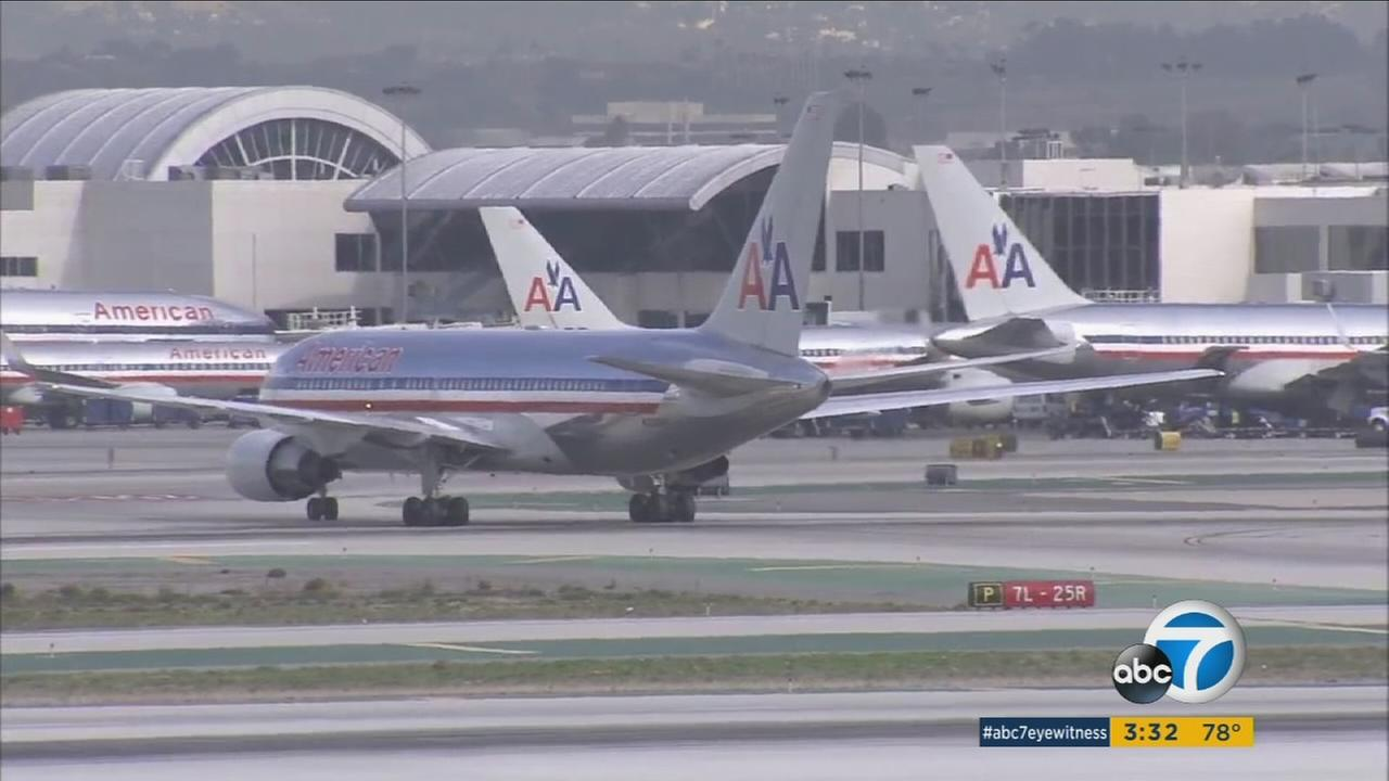 American Airlines planes are shown at Los Angeles International Airport in a file photo.