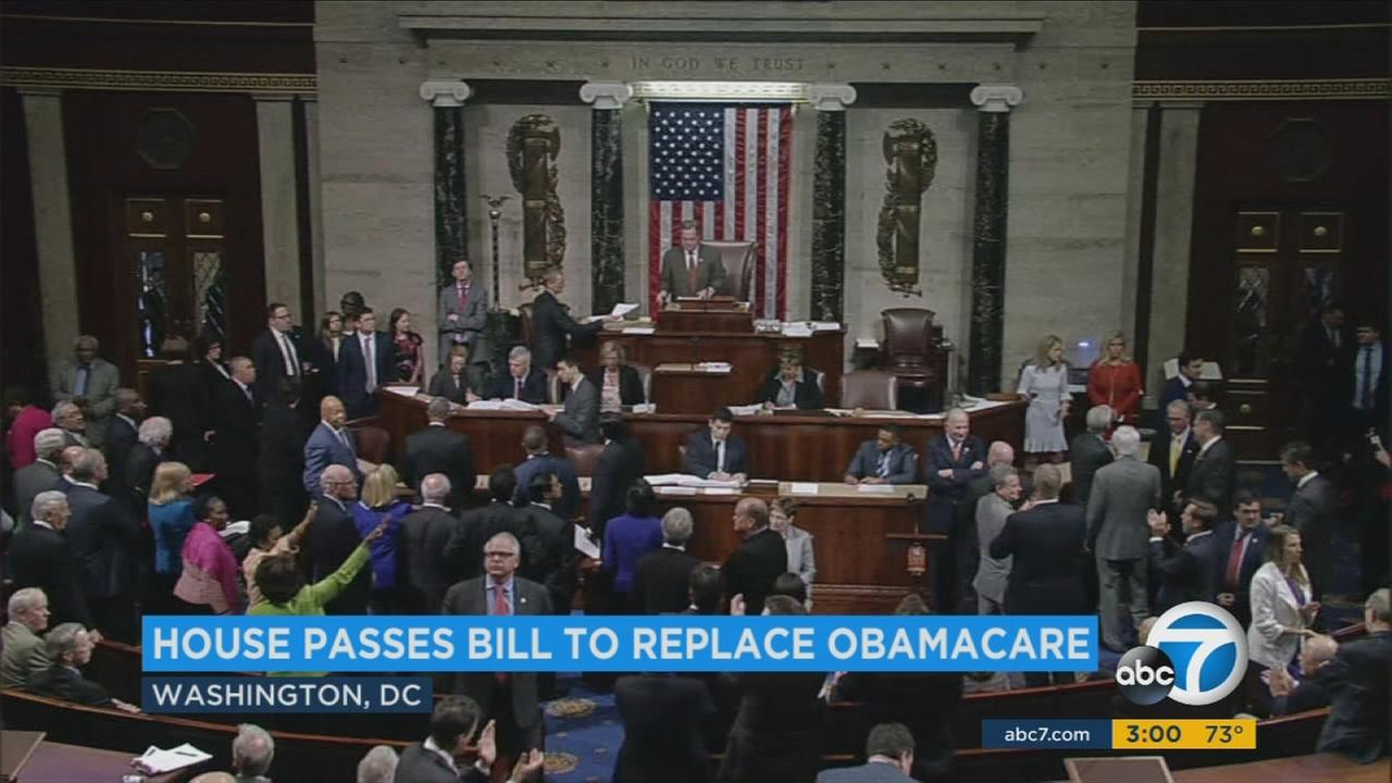 The House passes the American Health Care Act on Thursday, May 4, 2017.
