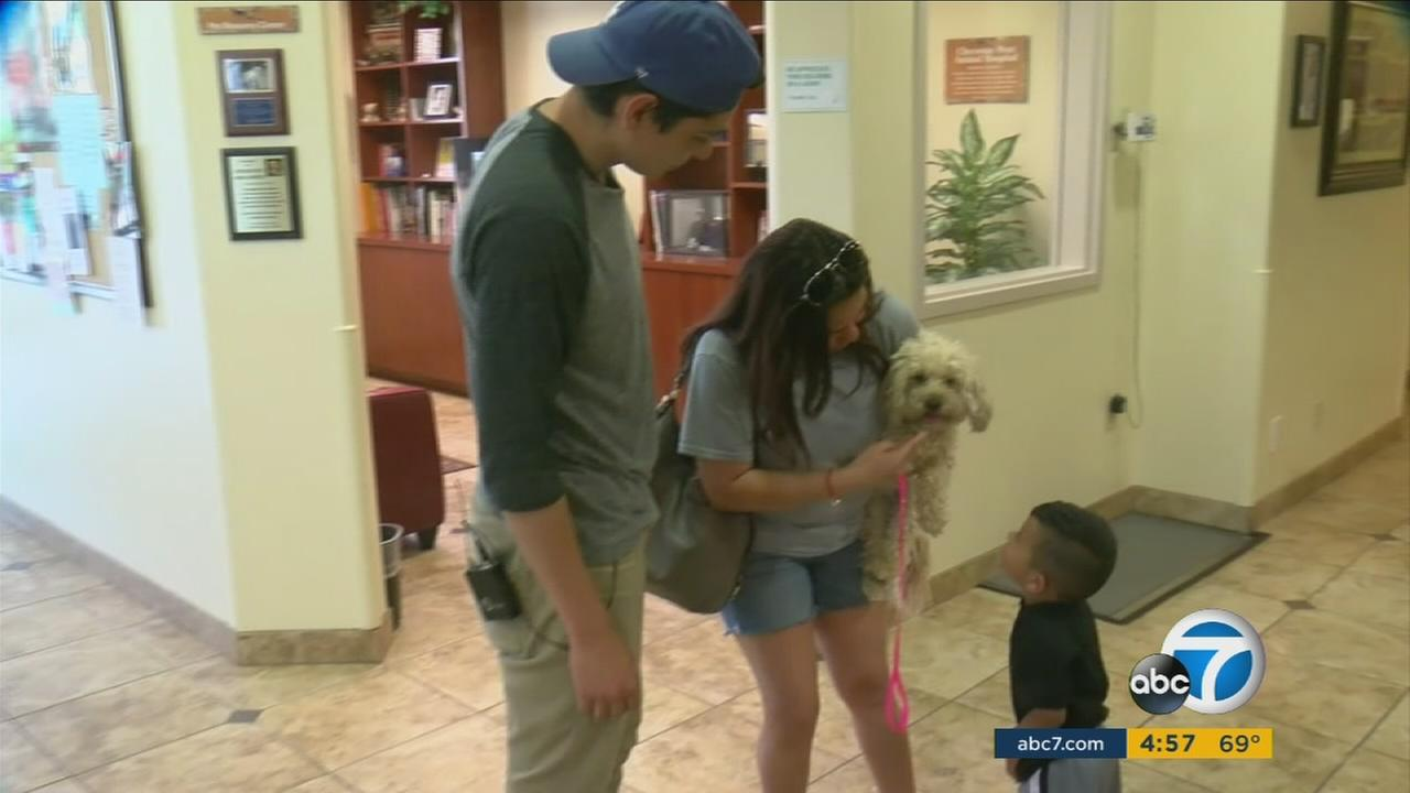 Victorville family reunited with long lost dog in Las Vegas