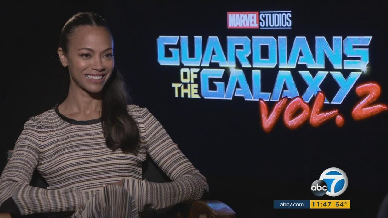 Zoe Saldana speaks with ABC7s George Pennacchio about her role in Guardians of the Galaxy Vol. 2.