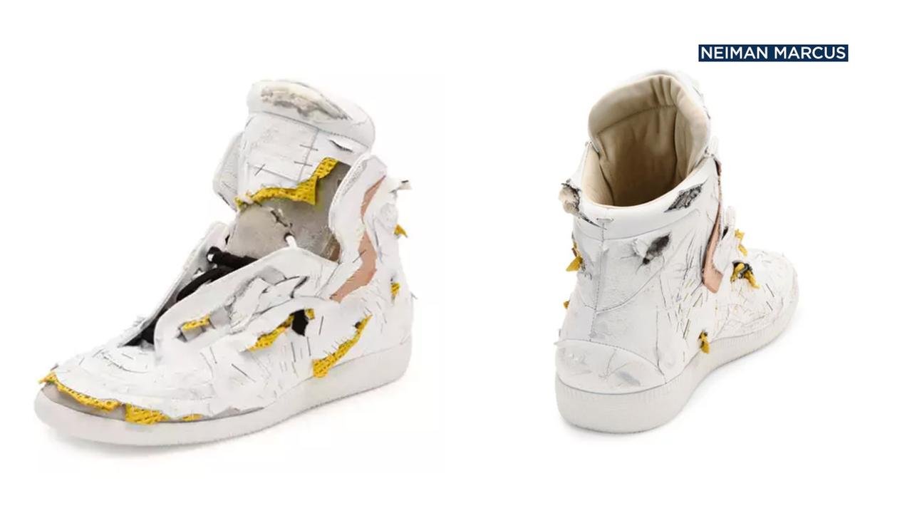 A pair of these destroyed sneakers designed by Maison Margiela cost $1,425.