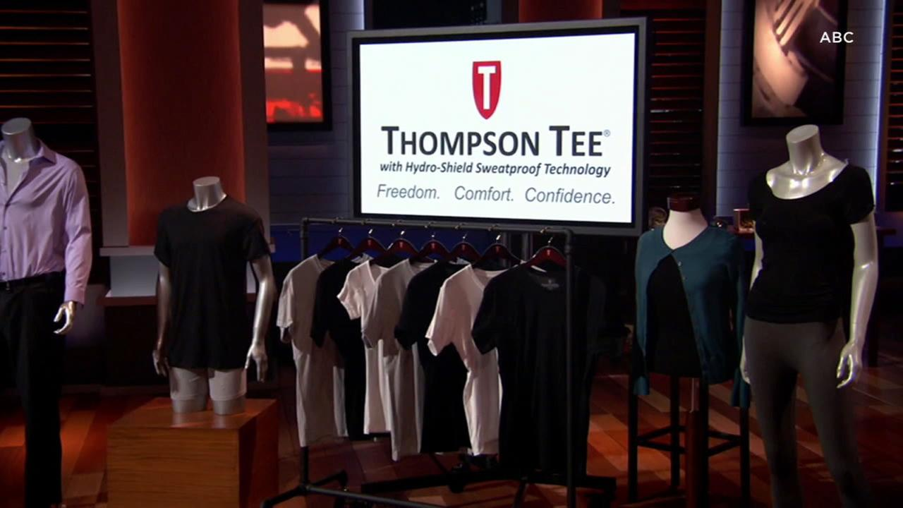 Thompson Tee shirts featured on ABCs Shark Tank.