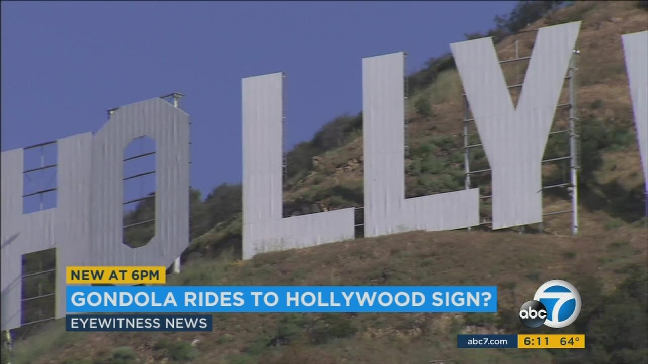 Los Angeles mayor Eric Garcetti shared thoughts on new ways to access the Hollywood sign, including the construction of a gondola.