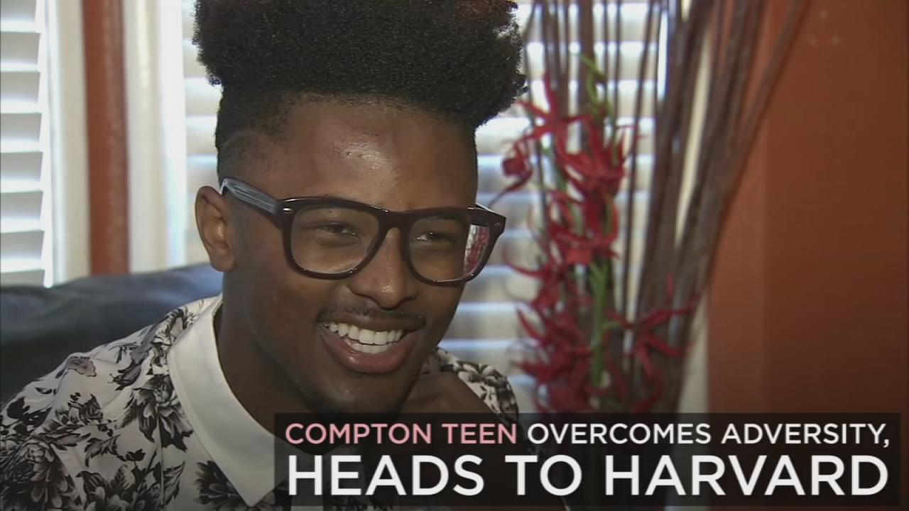 Despite his tough upbringing, one Compton teen got accepted into Harvard University.