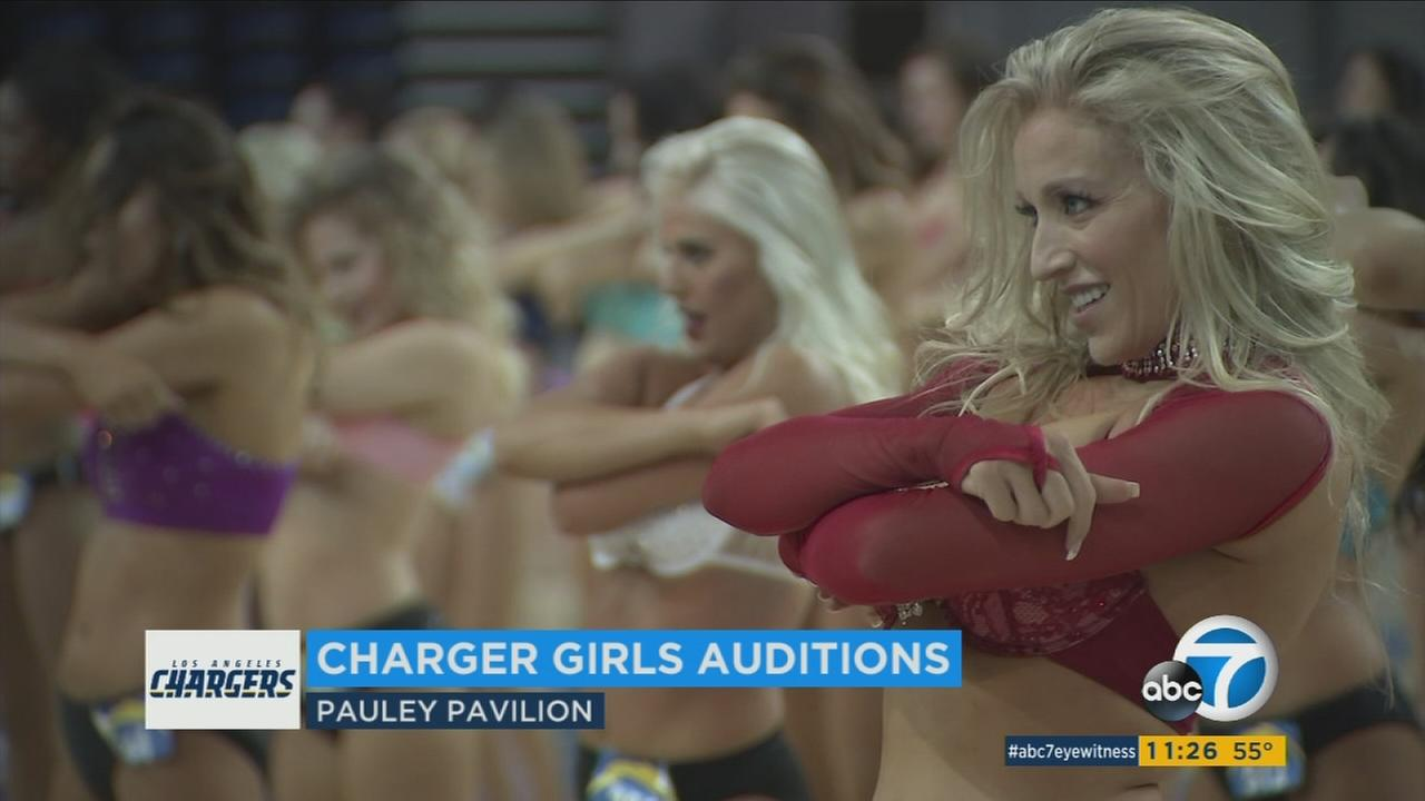 Hundreds of girls dance during Chargers Girls auditions on Saturday, May 6, 2017.