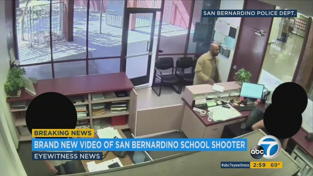 Surveillance video shows Cedric Anderson signing in to North Park Elementary School minutes before killing his estranged wife, another student and himself on April 10, 2017.