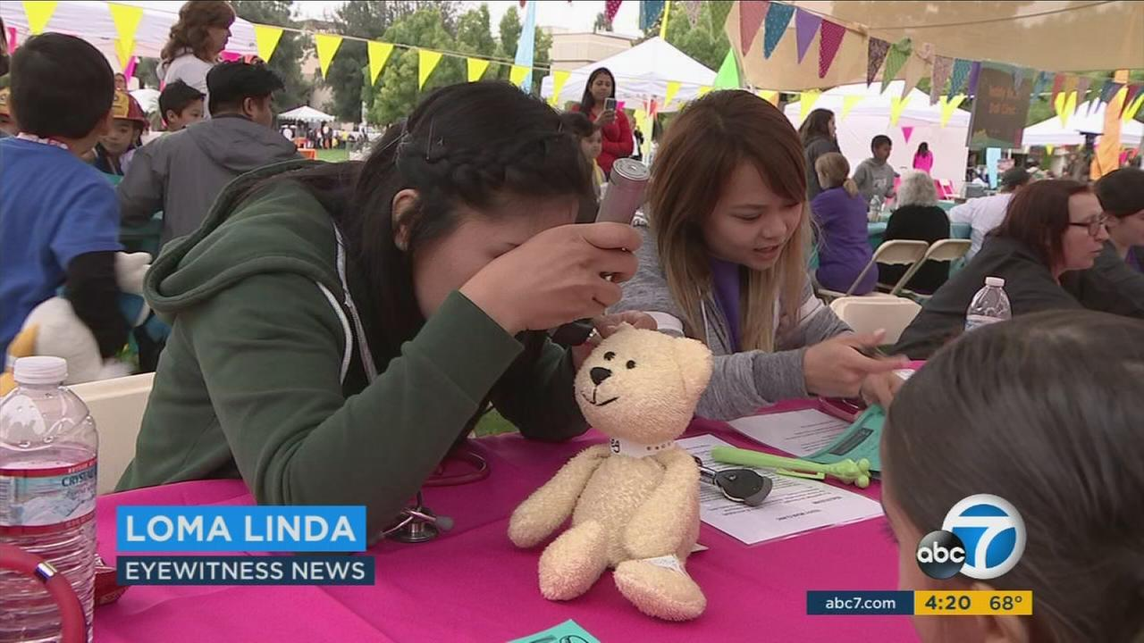 The 32 Childrens Day at Loma Linda University Childrens Hospital helped educate kids about receiving medical treatment and basic safety.