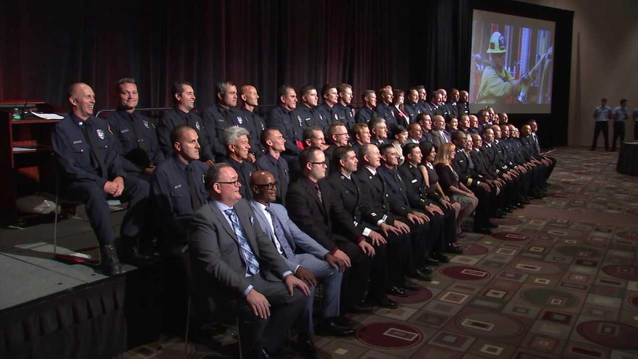 The Los Angeles County Fire Department honored more than 100 firefighters, officers and citizens for their bravery and heroic actions during the annual Valor Awards Ceremony.