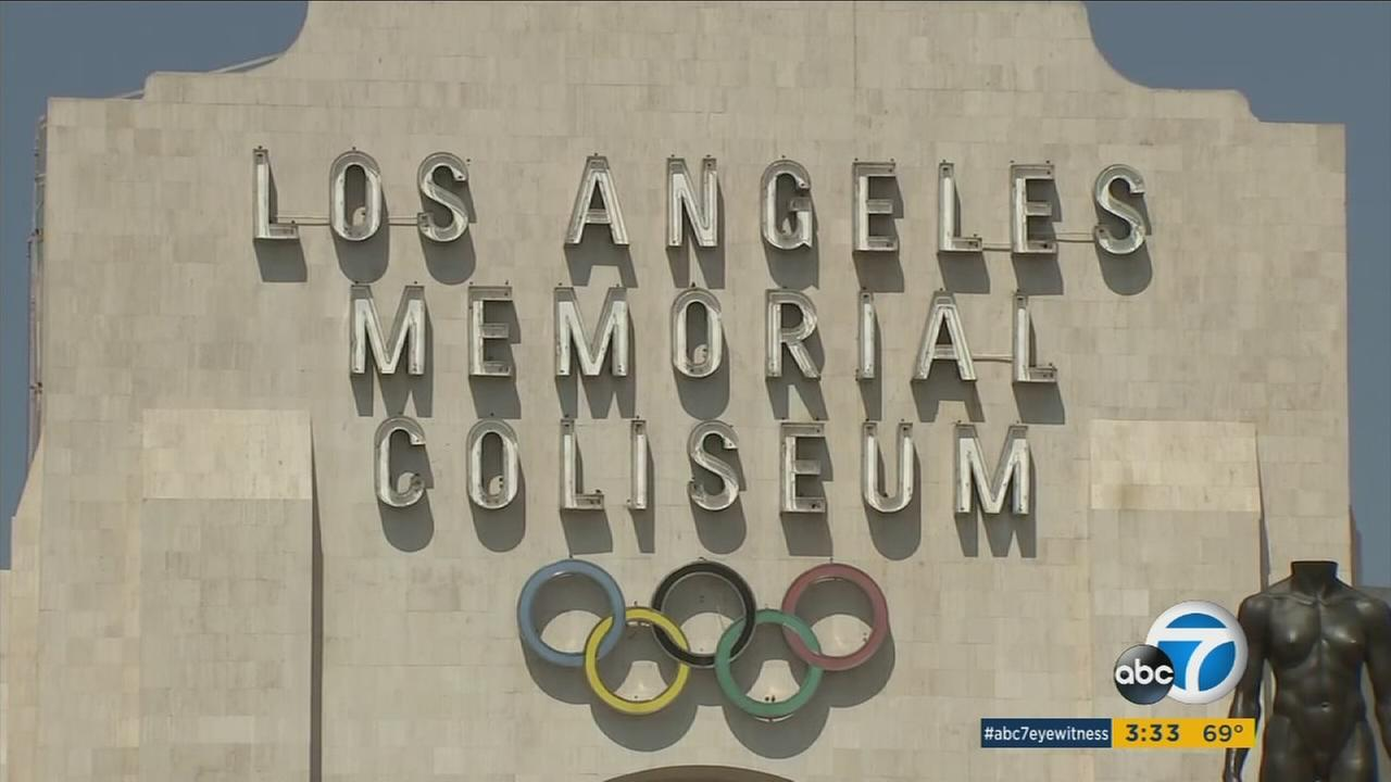 Los Angeles played host to the International Olympic Committee as members toured potential venues for the 2024 Olympics.