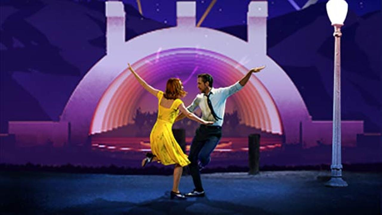 A promotion image for La La Land in Concert, which will perform live at the Hollywood Bowl.