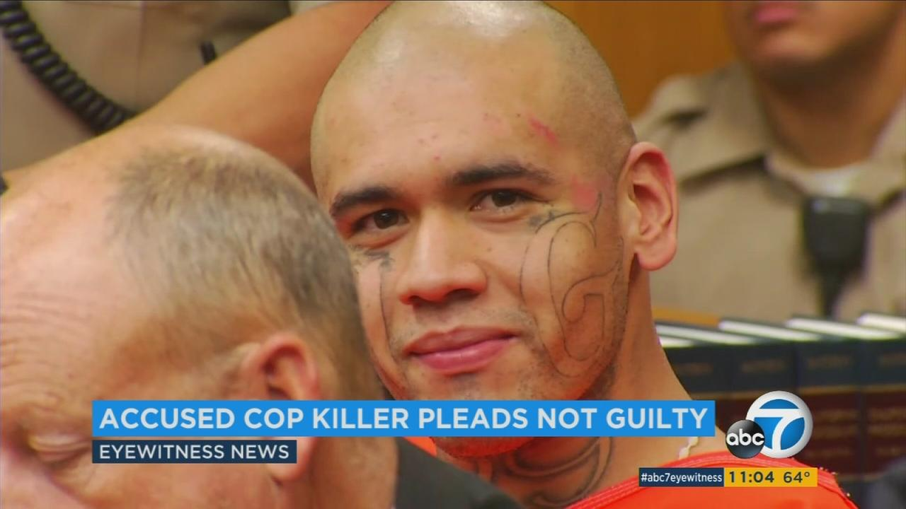 Michael Mejia smiled as he appeared in court on charges of killing two people, his own cousin and a Whittier police officer.