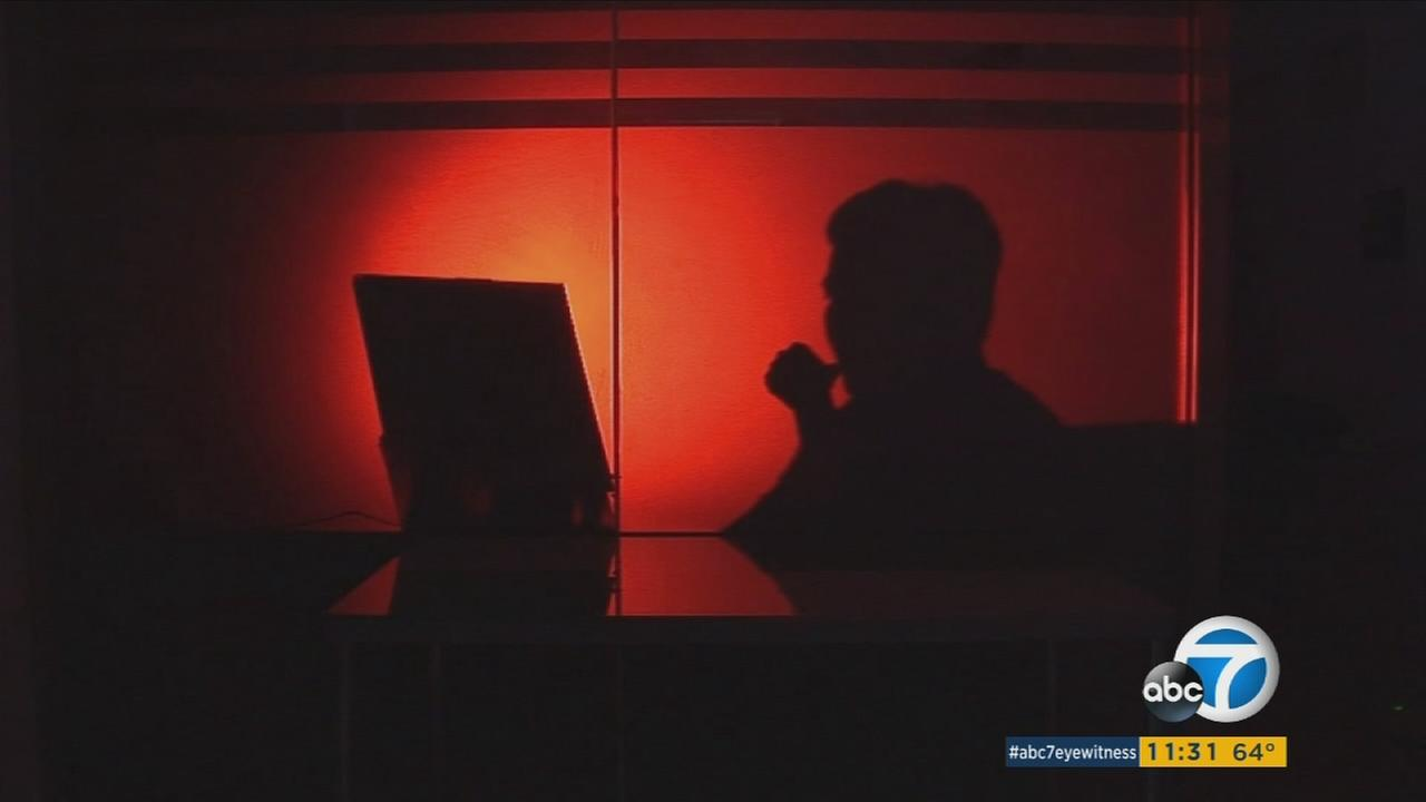 A silhouette of a computer is seen in this undated file photo.