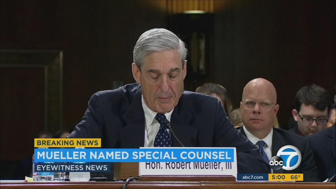 The Department of Justice announced the appointment of former FBI Director Robert Mueller as special counsel in the investigation into the Trump campaigns ties with Russia.
