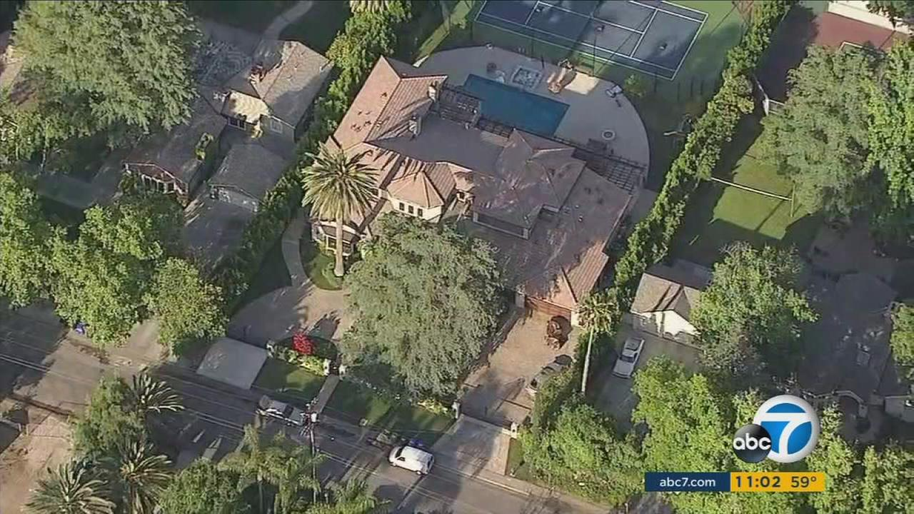 Amber Roses Tarzana home is shown in footage from AIR7 HD.