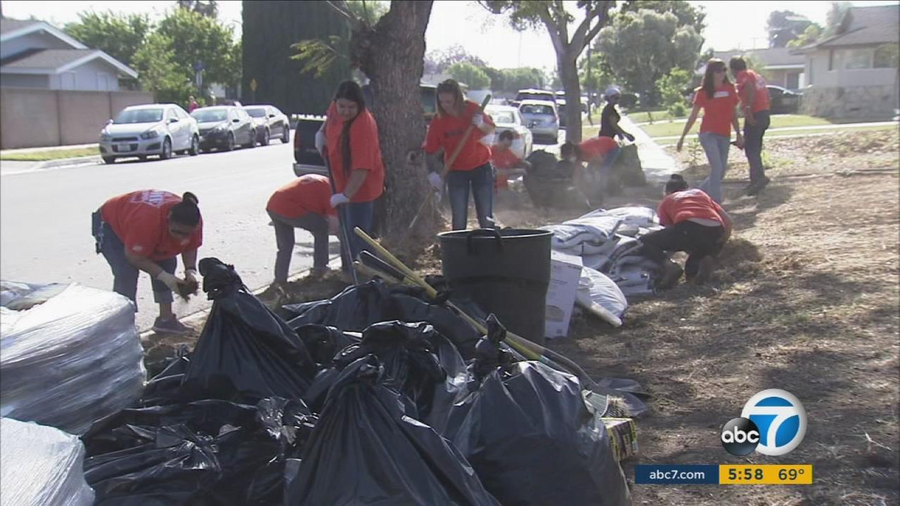 Volunteers in Anaheim helped repair a disabled Korean War veterans home as part a project that gives back to local communities.