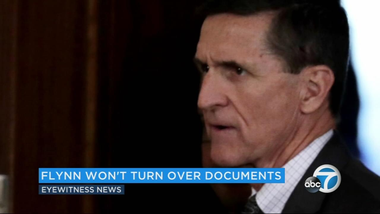 Ex-National Security Adviser Michael Flynn is seen in this undated file photo.
